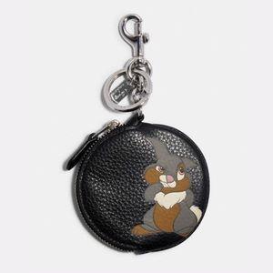 💃Disney X Coach Circular Coin Pouch Bag Charm